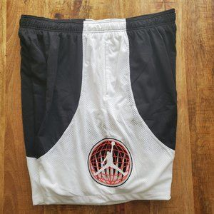 Nike Air Jordan Shorts Rare Mesh White/black Jumpm